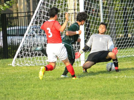 Truman's David Reyes goes on a scoring romp in the men's season opener. Photo credit: Todd Thomas.
