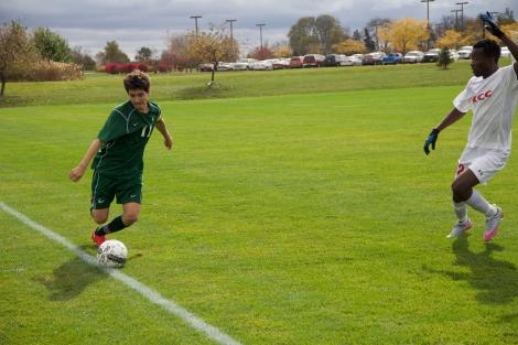 Freshman midfielder Norberto Flores at Kankakee..jpg